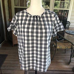 Ann Taylor plaid blouse